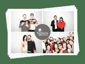 Eine Collage einer Gruppe Partygäste der Fotobox Breisgau