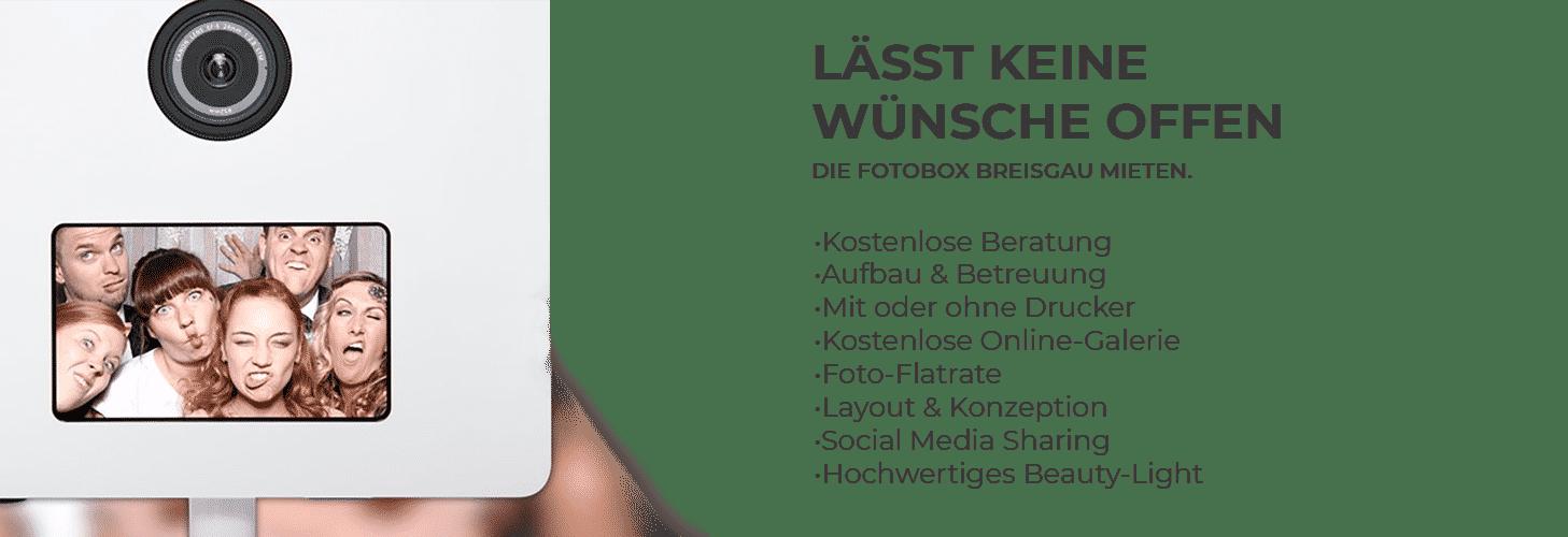Fotobox Breisgau Leistungen